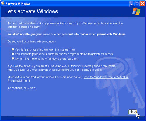 Let's activate Windows - click WinKey+u